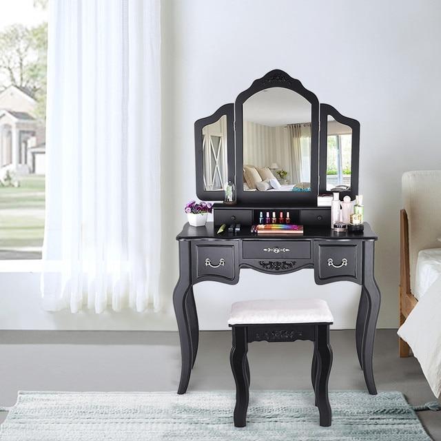 Vanity Set  w/ 3 Mirrors and 5 Drawers  3