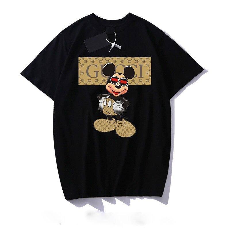 Дисней Микки Маус, женская футболка с буквенным принтом Микки из мультфильма, мужская и женская футболка с таким же коротким рукавом, джемпер, Лидер продаж