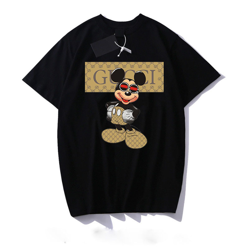 DISNEY Mickey mouse women letter printed Mickey cartoon T shirt men and women with the same short sleeved bottoming hot sale|T-Shirts| - AliExpress