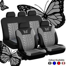 General Car Seat Cover Set Butterfly-Pattern Embroidery Full Interior Accessories Auto