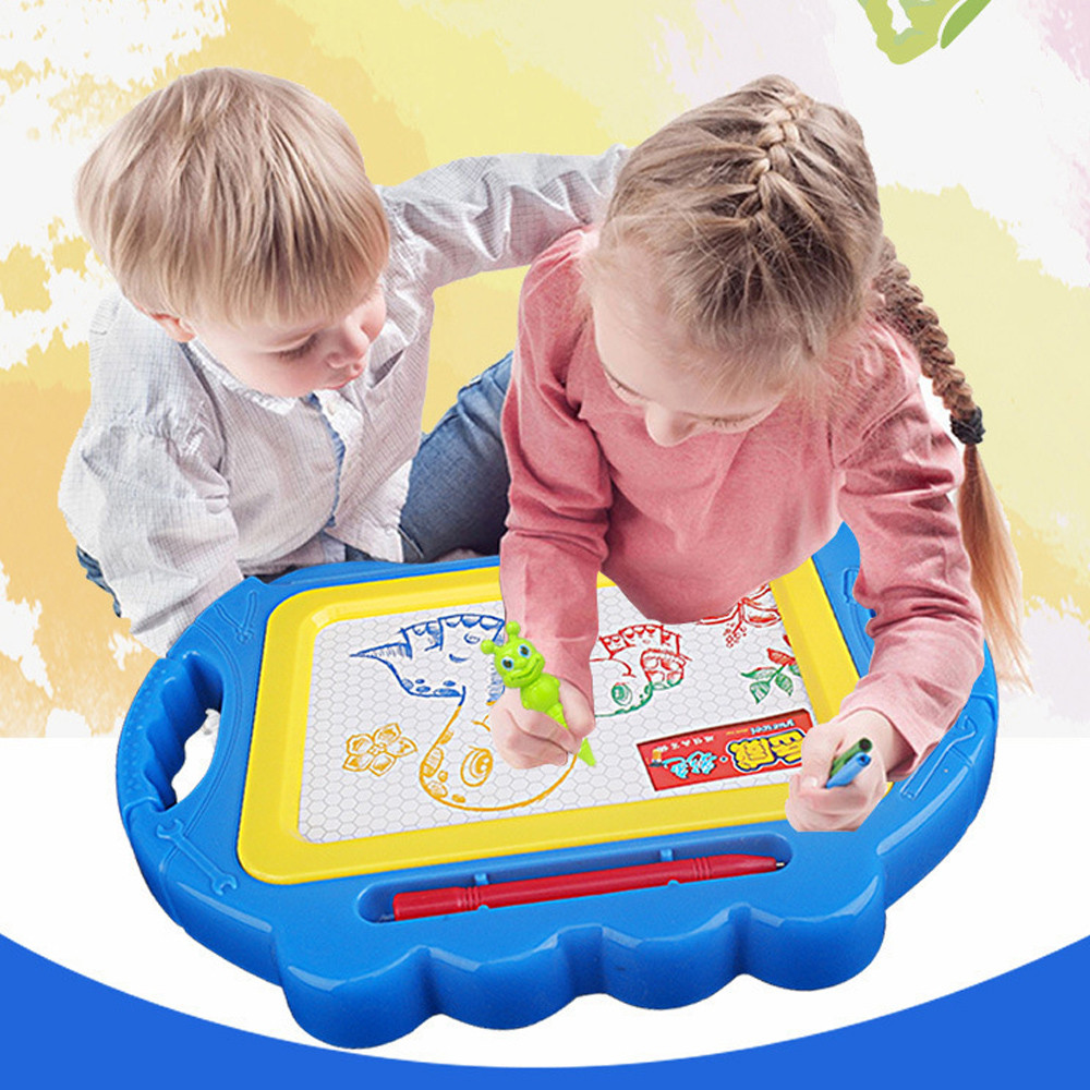 Learning Education Toys Learning Drawing Toys For Children Doodle Erasable Magnetic Drawing Board + Pen Gift New Toys Y1023