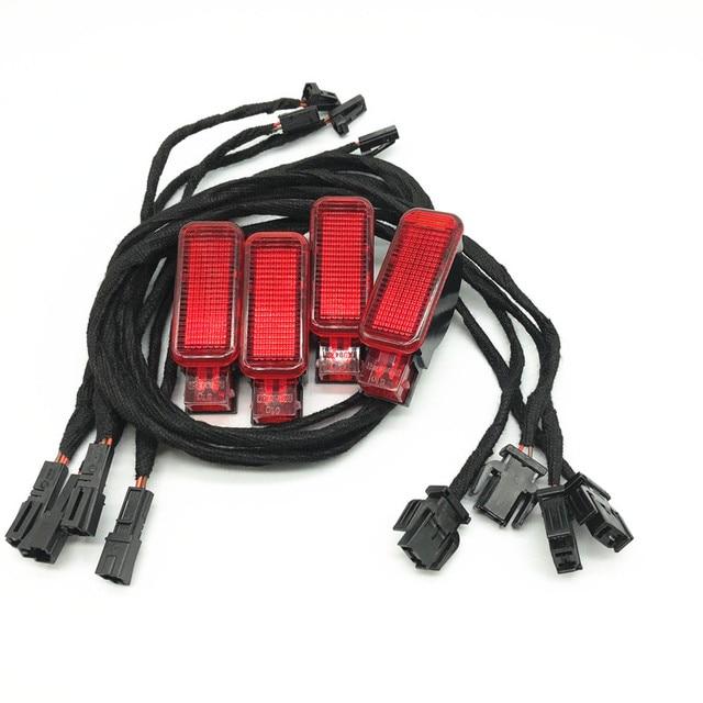 Auto Interieur Halogeen Rode Deur Waarschuwingslampje Kabel Wringen Harnas Upgrade Voor A3 A4 B8 A5 A6 C7 C8 A7 a8 S8 Q3 Q5 Q7 Tt RS3