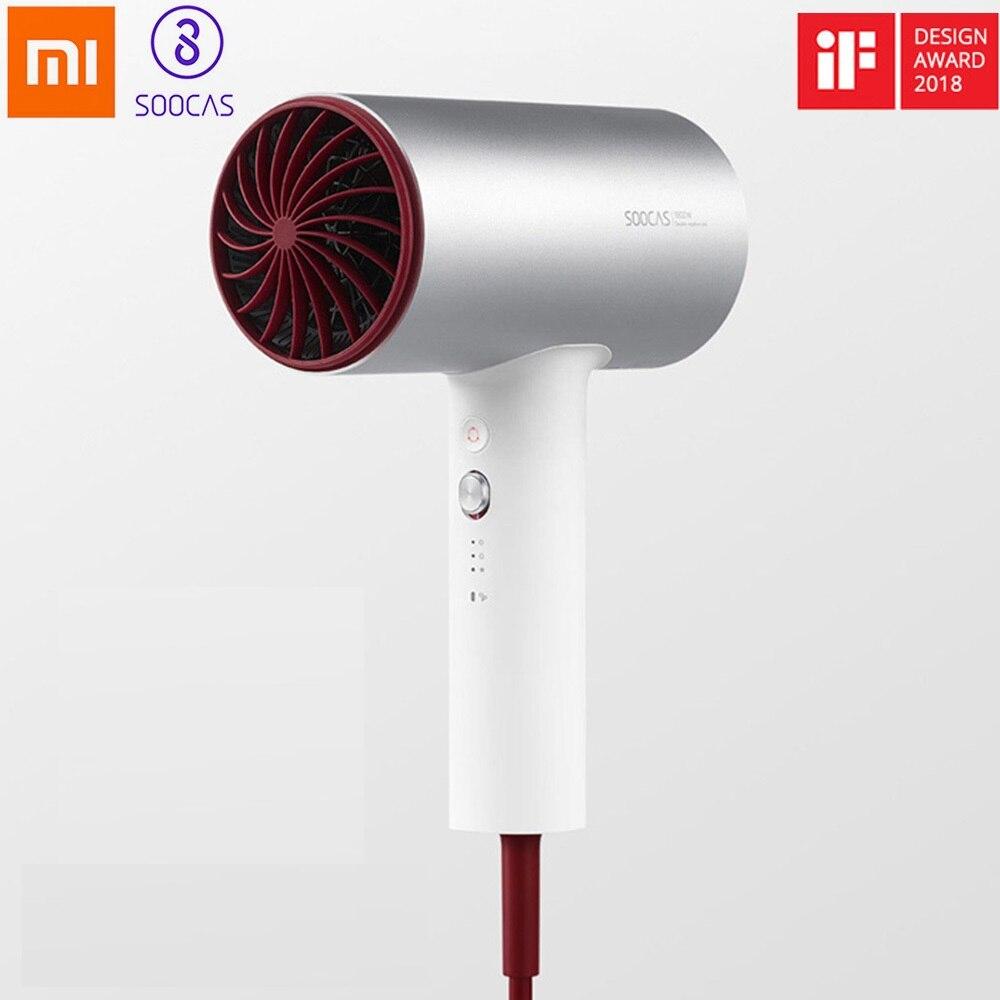 Secador de Cabelo para Xiaomi Secador de Cabelo Plugue da ue Soocas Negativo Mijia 1800 w Profissional Liga Alumínio Poderoso Elétrico H3s Íon