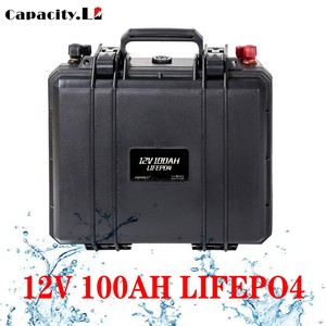 Capacity 12v 100ah solar battery pack lifepo4 200ah RV battery pack Rechargeable Battery with bms for Outdoor camping inverter