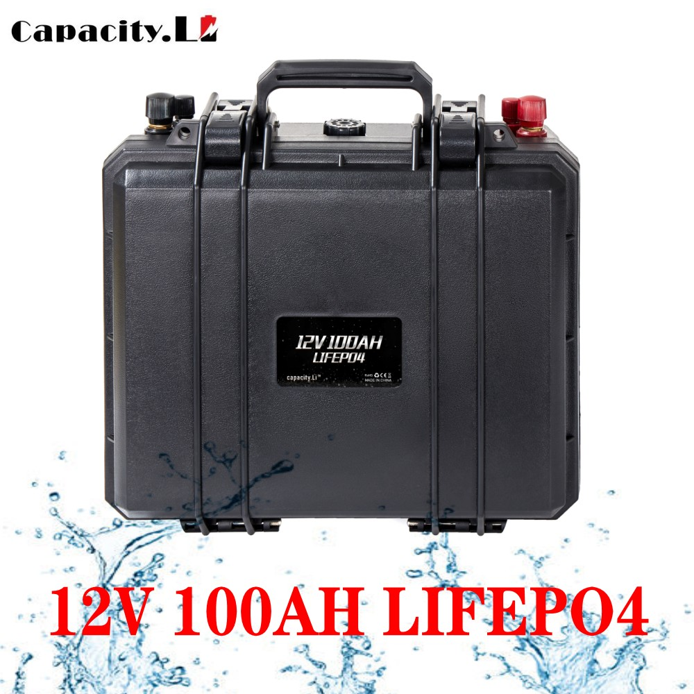 Capacity.Li 12v 100ah solar battery lifepo4 200ah RV battery pack Rechargeable Battery with bms for Outdoor camping inverter(China)