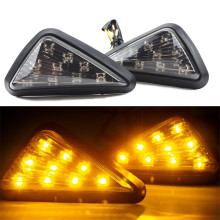 цена на 2PCS Flashing Motorcycle LED Turn Signal Indicators Amber Blinker  Universal Signal Indicators Lamp car light accessories 12V