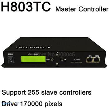 H803TC светодиодный онлайн/Автономный главный контроллер работает с H801RA или H801RC Slave контроллер привода 170000 пикселей