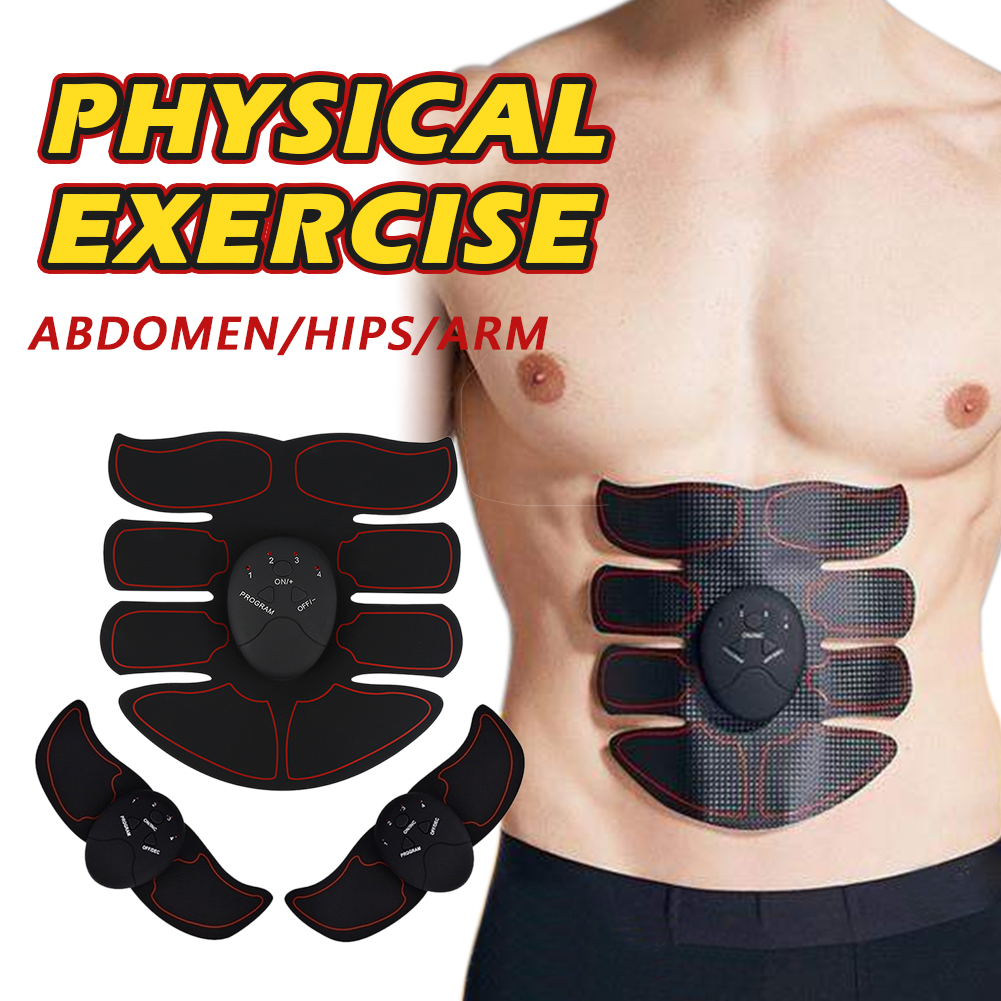 EMS Wireless Muscle Stimulator Trainer Electric Weight Loss Stickers Body Smart Fitness Abdominal Training Arm Leg Belt Unisex