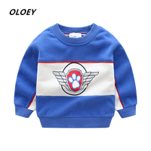 OLOEY Childrens Sweater Hot Sale Spring /Autumn Dog Team Bottoming Shirt Jacket Boy Sweaters Baby Clothes Cute