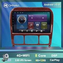 راديو السيارة لمرسيدس بنز S الدرجة W220 S280 S320 S350 S400 S430 S500 S600 S55 AMG 1998-2005 الوسائط المتعددة CD مشغل ديفيدي الملاحة وتحديد المو