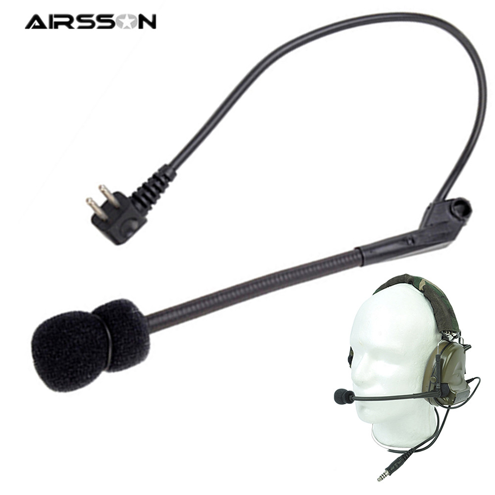 Tactical Z-Tactical Microphone For Comtac II Noise Reduction Headset Outdoor Sports Military High Tone Quality Headphone Tool
