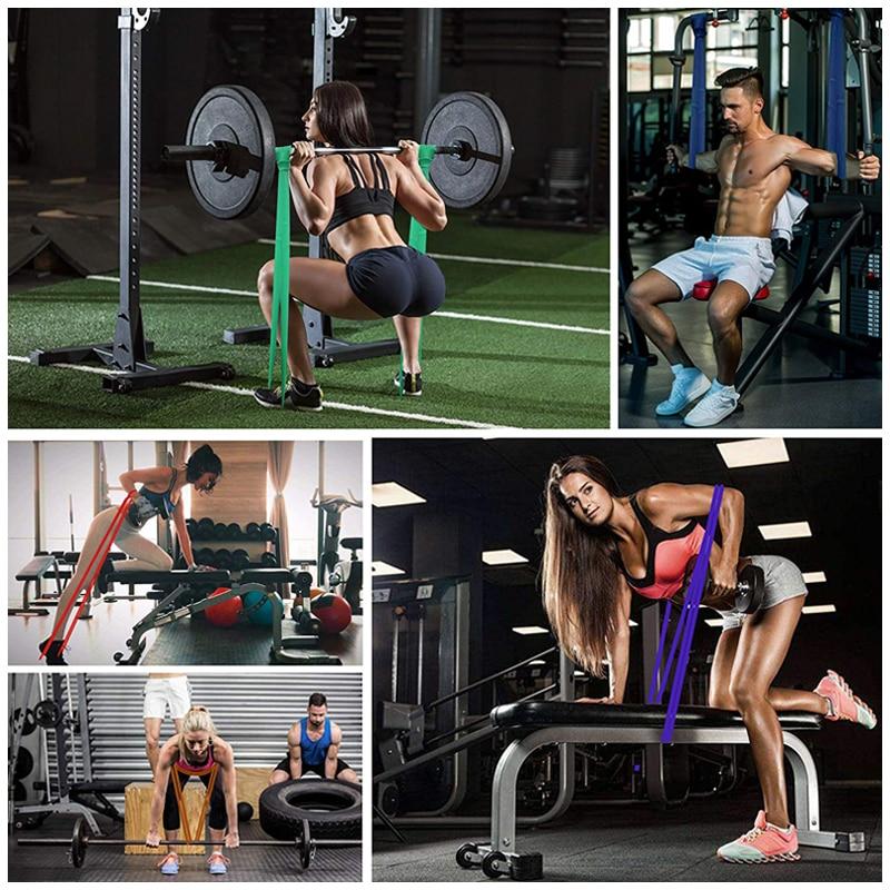 Эластичные резинки для физических упражнений, натуральные, поздней тренировки, для пилатеса, фитнеса, тренировок, экспандер, унисекс резина эспандер для фитнеса-5