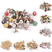 mix vintage Diy Brads Scrapbooking Embellishment Fastener Brad Metal Crafts Decoration CP2583