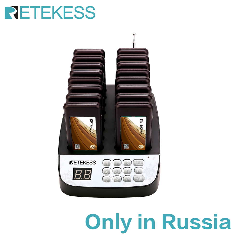 Retekess T113 Restaurant Pager Wireless Queuing System Guest Pager Customer Support Pagers For Restaurant Church Coffee Shop