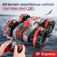 Wasser & Land 2 IN 1 Fernbedienung Auto 360 ° Drehen RC Autos Amphibien RC Drift Auto Wasserdichte Stunt auto RC Spielzeug für Kinder
