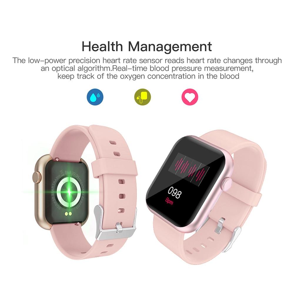 Colmi P9 Smart Horloge Mannen Vrouw Volledige Smartwatch Ingebouwde Game IP67 Waterdicht Hartslag Sleep Monitor Voor Ios android Telefoon 3