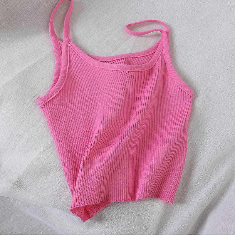 HELIAR-haut en tricot pour femmes, Camisole de rue, résistant à bretelles, Spaghetti