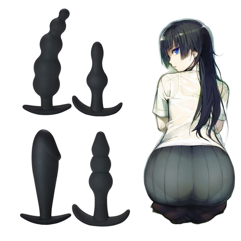 Erotic Women Invisible Anal Beads Cone Butt Plug Sex Toys For Adult Games Silicone Plug Anal Intimate Goods Exotic Accessories