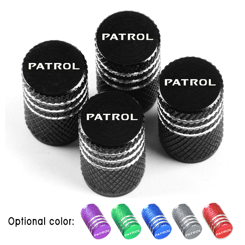 Car Styling Aluminum Alloy Wheel Stem Covers Tire Valve Caps Decoration For Nissan Patrol Y60 Y61 Y62