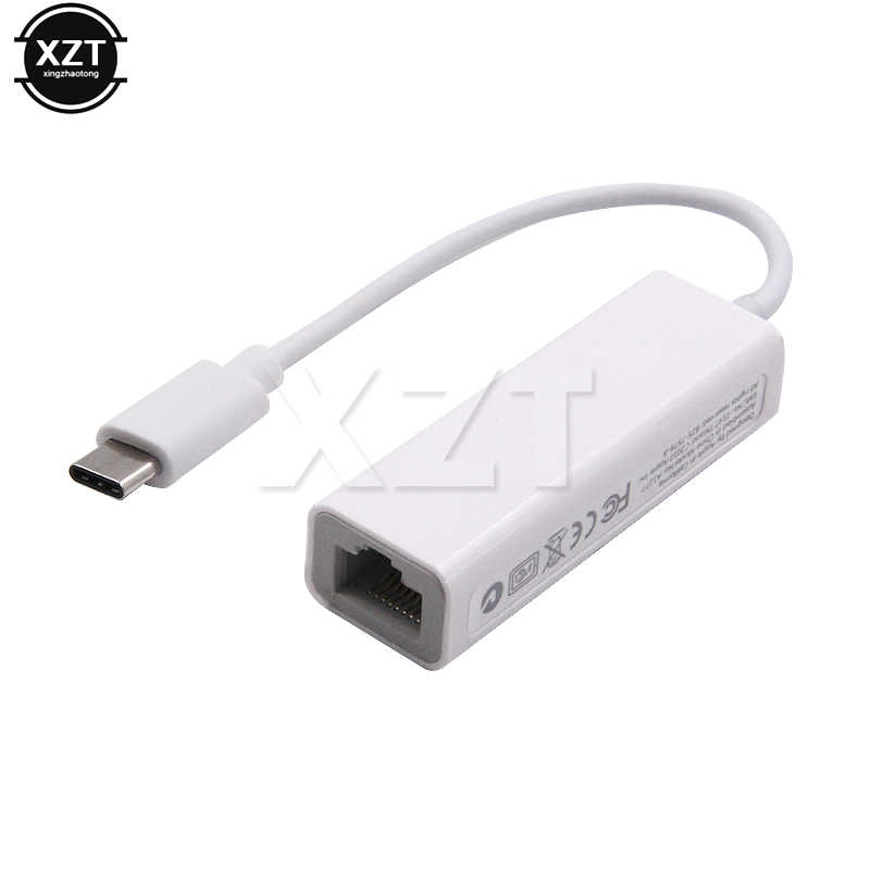 Adaptador Ethernet USB, tarjeta de red de 10/100Mbps, Rj45 tipo c, USB C Lan para Macbook, Windows, Cable de Internet con Cable