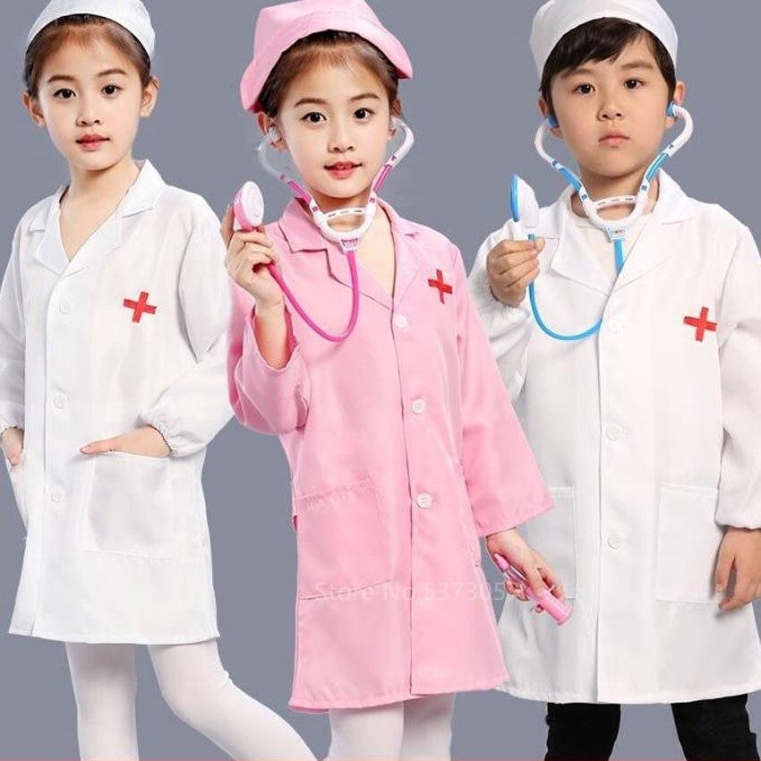 Детский костюм на Хэллоуин для мальчиков и девочек, костюм для косплея, Детский костюм с шапкой и крестиком