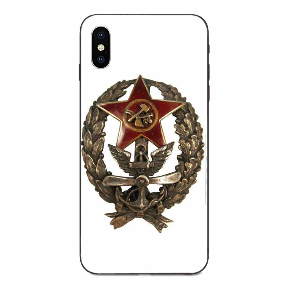 لينة سيليكون TPU الأسود المحمول لهواوي الشرف 5A 6A 6C 7A 7C 7X8 8A 8C 8X9 9X10 10i 20 لايت برو السوفياتي السوفياتي شعار الكلاسيكية