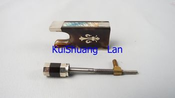 High quality advanced 1 pcs 4/4 violin bow frogs with silver mount #18