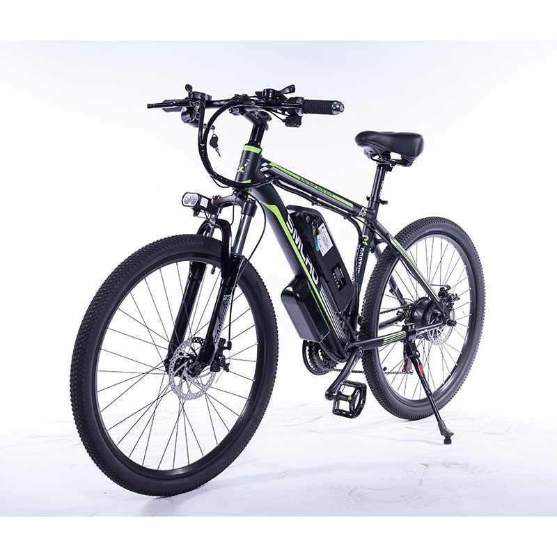 29 pollici Mountain Elettrica Della Bici 1000W / 500W Bicicletta Elettrica con Rimovibile 48V Batteria Agli Ioni di Litio 21 velocità Shifter