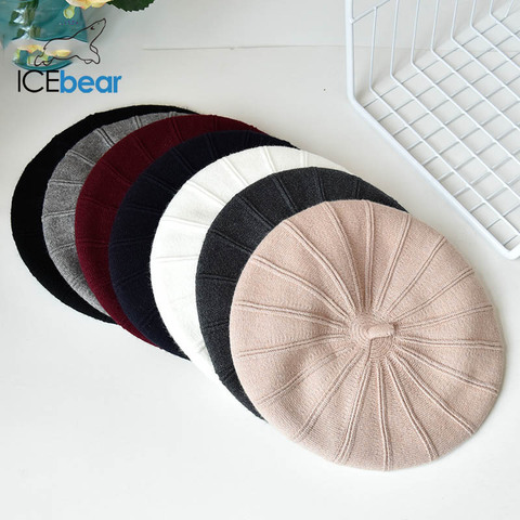 ICEbear Winter Hats For Women Autumn Knitted Wool Painter Caps New Fashion Solid Color  For Lady E-MX18133 Multan