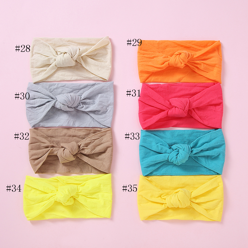 15pc/lot Baby Bow Nylon Headband For Girls Bowknot Head Wraps Newborn Nylon Elastic Head Band For Girls Hair Accessories