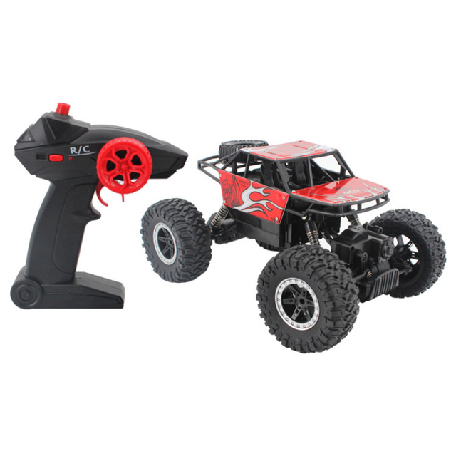 2.4Ghz Four-wheel drive rc car toy off-road vehicle mountain big foot remote control car  Alloy climbing car children's toy 1