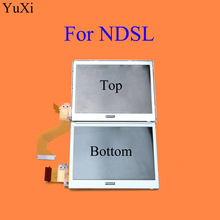 YuXi zamiennik górny/dolny dolny ekran wyświetlacza LCD Pantalla gorsza Para dla Nintendo DS Lite NDSL