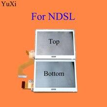 Yuxi display lcd para substituição, tela superior/inferior inferior inferior, exibidor inferior para nintendo ds lite ndsl