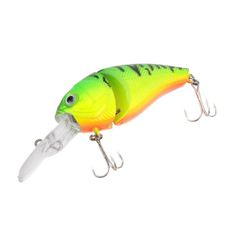 14 g 8.5 cm 2 Joint Hard Lure Crankbait Treble Hook Tackle Lure Real life-like