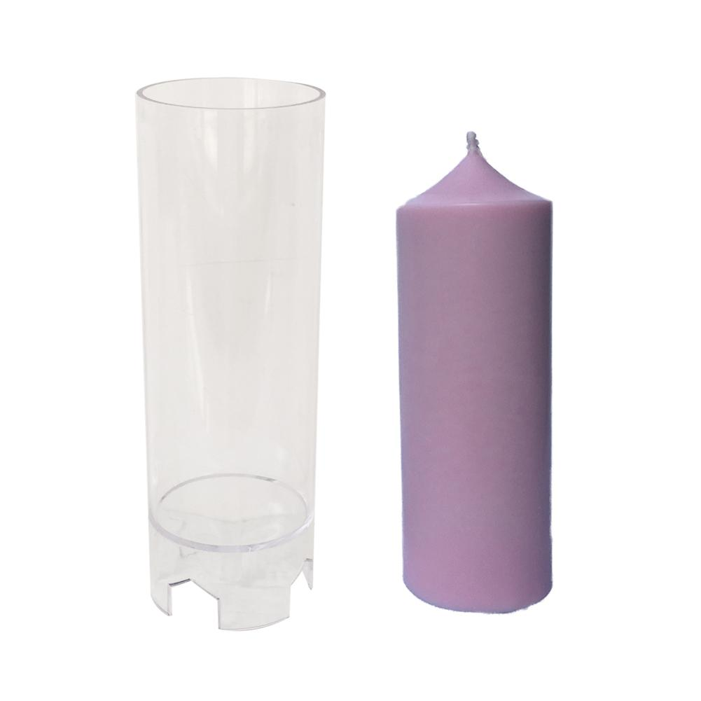 1pc Plastic Candle Mold Church Spire Cylinder Shape Candle Mould Soap Mold For Candle DIY Making Craft Tool