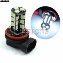 цена на H11 Car White Head Light Fog Light Driving Lamp Bulb 27-LED Auto Universal Light