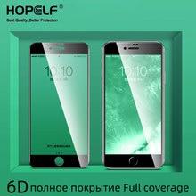 6D الزجاج المقسى على آيفون 7 Plus 8 6 6s الزجاج واقية على آيفون 11 برو ماكس XS X XR 7 Plus 6 8 حامي الشاشة