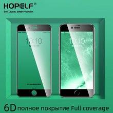 Verre trempé 6D sur le pour iPhone 7 Plus 8 6 6s verre de protection sur pour iPhone 11 Pro MAX XS X XR 7 Plus 6 8 protecteur décran