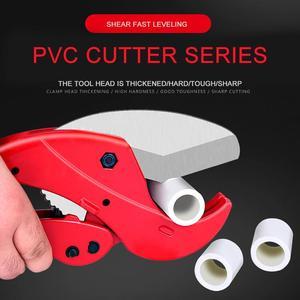 PVC Pipe Cutter 42mm Aluminum Alloy Body Ratchet Scissors Tube Cutter PVC/PPR/PE Hose Cutting Hand Tools