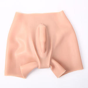Image 1 - Artificial Sexy Insertable False Pants High waist Rich buttocks Realistic Vagina Panties Pseudo Male  Shemale Crossdresser Pussy