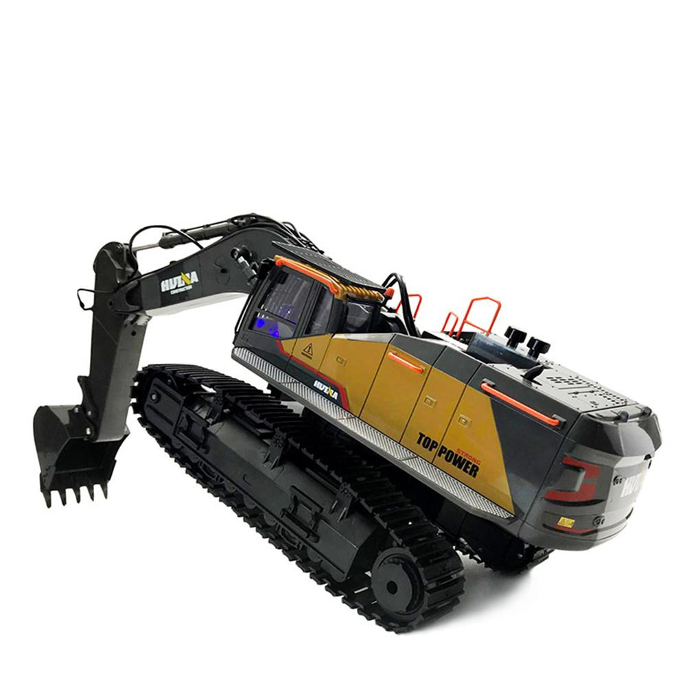 2020 New Item HuiNa 1:14 1592 RC Alloy Excavator 22CH Big Rc Trucks Simulation Excavator Remote Control Vehicle Toys for Boys - 5