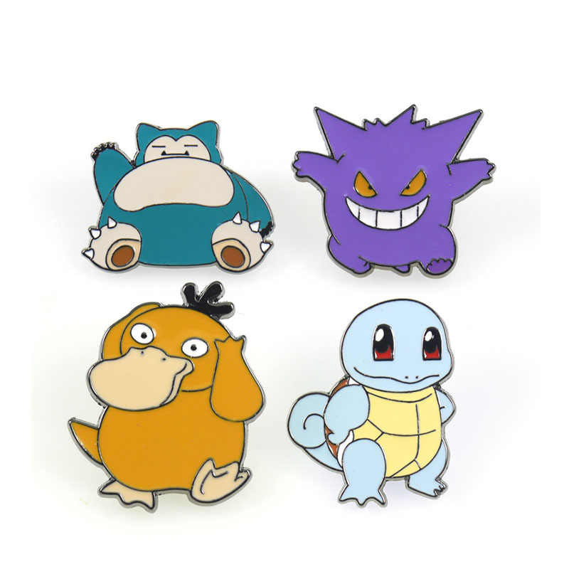 Nuovo Pokemon Go Tag pin del fumetto di modo brooch dello smalto distintivo Zaino denim vestiti pins e spille regalo per le Donne kidsMen ventole