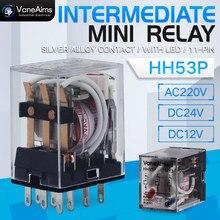 Bobine électromagnétique général DPDT relais de puissance MY3NJ DPDT 8 broches HH53P DC12V 24V AC220V relais Miniature et Base PYF08A