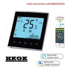 2PIPE Touch screen WIFI thermostat regulator temperature for fan coil unit 24VAC,AC95~240V цена и фото