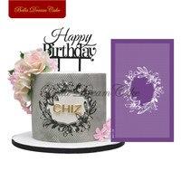Цветок лилии рамка кружева дизайн трафареты для торта, помадка Свадебные сетки трафареты ткань торт плесень украшения торта инструмент для...