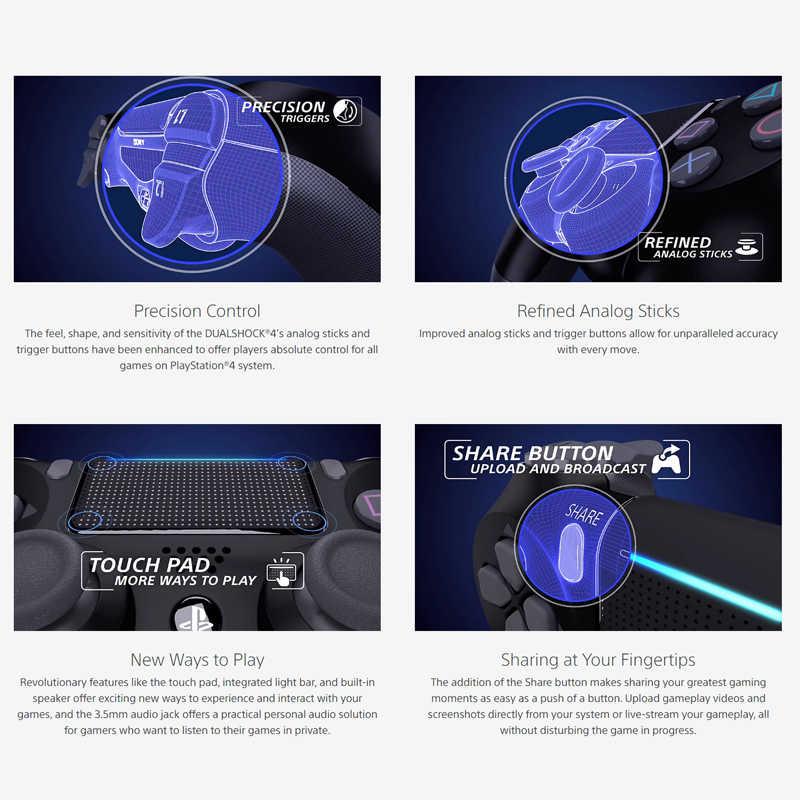 Yeni siyah PS4 kablosuz Bluetooth denetleyici çift analog sopa ve tetik düğmeler DualShock Gamepad PS4 denetleyici pk Xbox