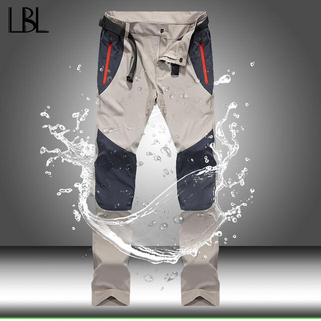 Tactical Waterproof Pants Men Cargo Spring Summer Quick Dry Trousers Men's Outdoor Sports Trekking Camping Fishing Pants 4XL 15
