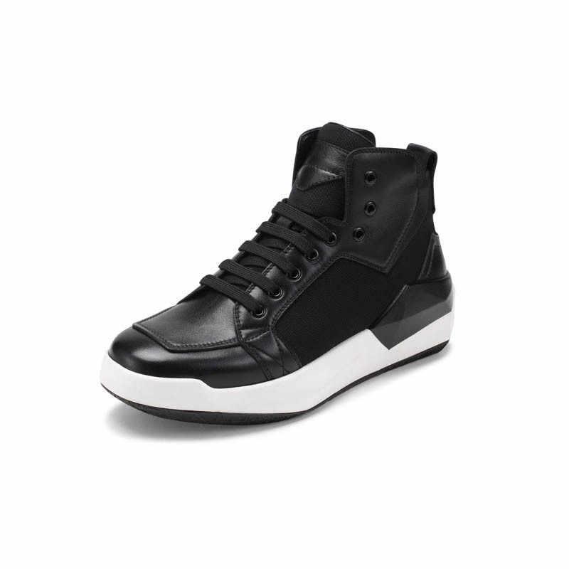 2020 Winter Punk Vintage Mischfarbe Mode Herren Round Toe Ankle Schuhe Casual Lace Up Echtes Leder Kuh Männlichen Keile schuhe