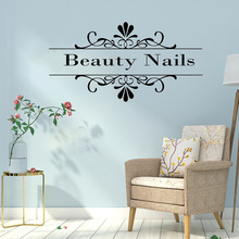 Nail & Beauty Quote Vinyl Wall Sticker Nails Wallpaper For Salon Decor Decals Girl Bedroom Art Stickers