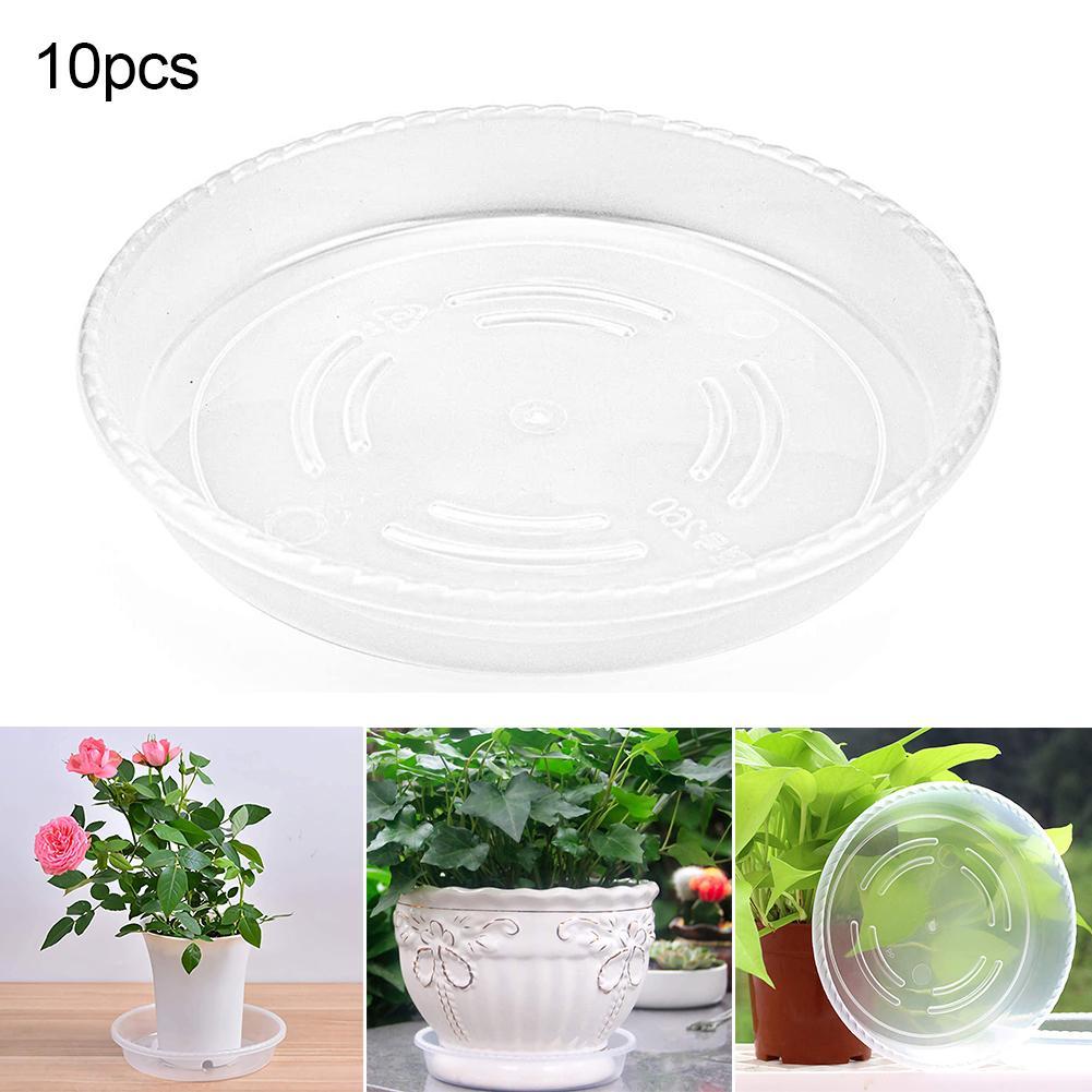25pcs Garden Round Plastic Plant Pot Saucer Base Flowerpot Drip Tray Saucers